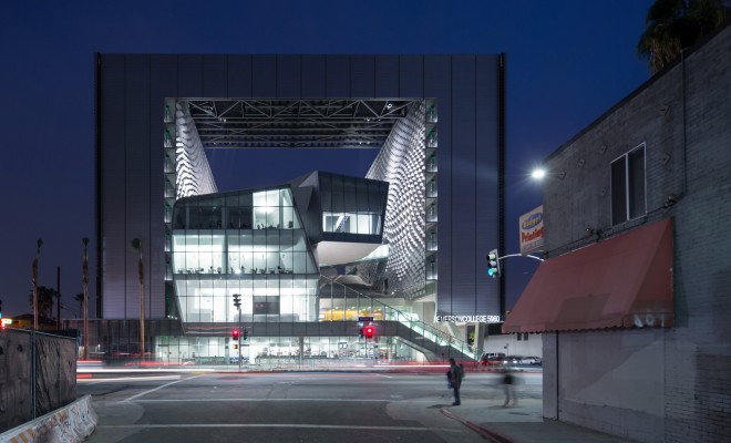 emerson-college-los-angeles-morphosis-architects_exterior-shot-at-dusk-from-west-sunset-blvd-without-ela-sign